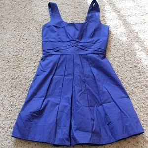 Blue Dress with Bow Back